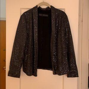 Zara sequined open jacket